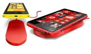 The Lumia 920 along with the wireless charging dock