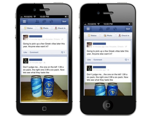 Facebook stocks increase due to iPhone 5