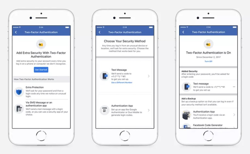 Facebook Simplifies Its New Two-Factor Authentication Process