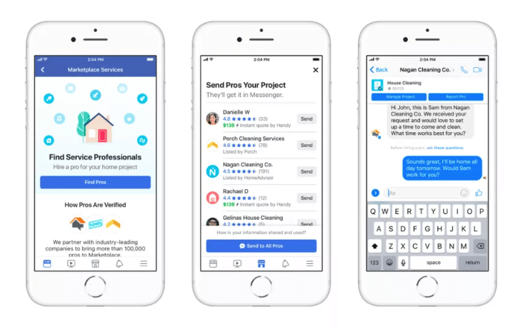 Facebook Marketplace Expands To Add Home Services