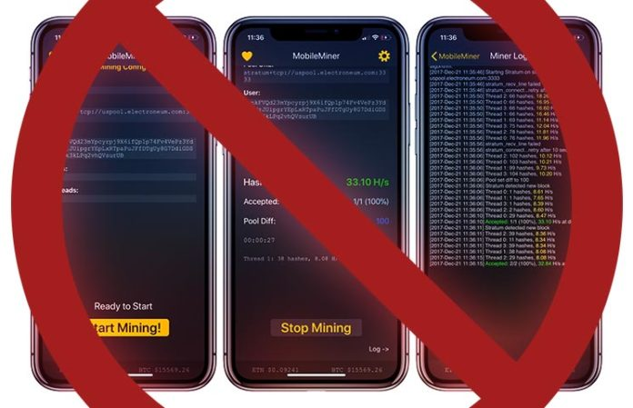 Apple Bans Cryptocurrency Mining on iPhone and iPad