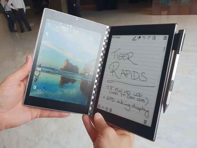 Intel Tiger Rapid Is A Dual Screen Windows PC and E Ink Notepad in One