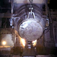 Molten iron (Library of Congress/Wikimedia Commons)