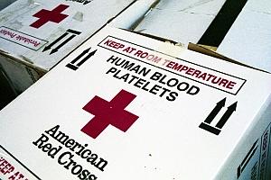 Boxes of Red Cross bllod platelets (Jason Scragz/Flickr)