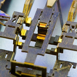Close-up view of pop-up microbot (Harvard School of Engineering and Applied Sciences)