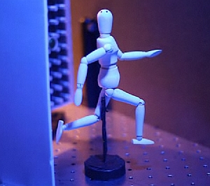 Figurine used in femto-photography experiments (MIT Media Lab)