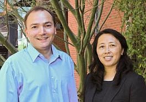 Samy Missoum, left, and Zhao Chen will lead the University of Arizona team developing a hip fracture computer model.