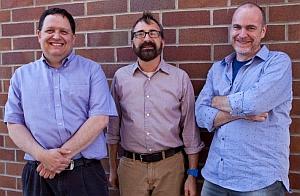 L-R: Scott Mainwaring, Bill Maurer, and Paul Dourish (Brad Whalen, Intel Labs)