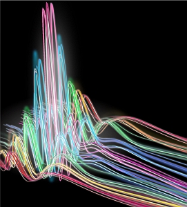 X-ray pulse rendered as colored light waves (JILA, University of Colorado)