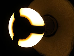 Glowing LED bulb (Pacific Northwest National Laboratory)