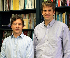 Matthew Turk, left, and Tobias Hollerer (UC Santa Barbara)