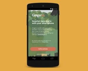 Ginger.io screen