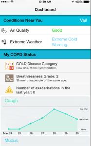 COPD Navigator screen