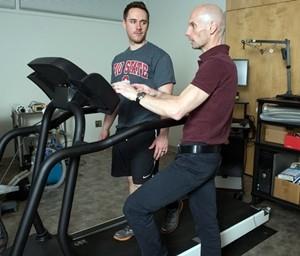 Steven Devor and treadmill