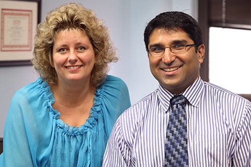 Ann-Marie Broome and Satish Nadig