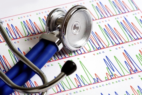 Stethoscope on DNA sheet
