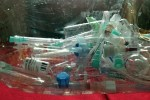 Syringes for disposal