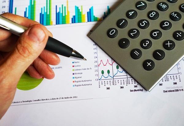Pen, chart, calculator