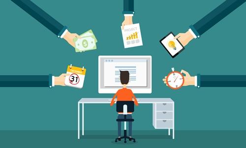 Hiring freelancers graphic