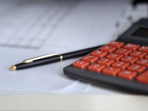Pen and calculator