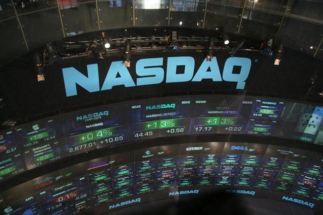 NASDAQ share price display