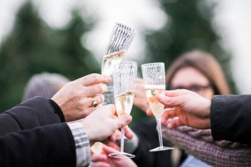 Champaign toast