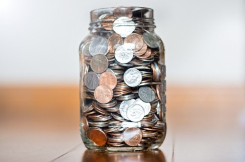 Coin change jar