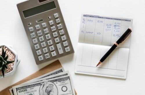 Calculator cash calendar