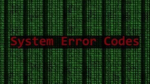 System error codes