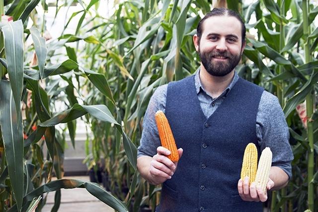 Evan Rocheford and corn