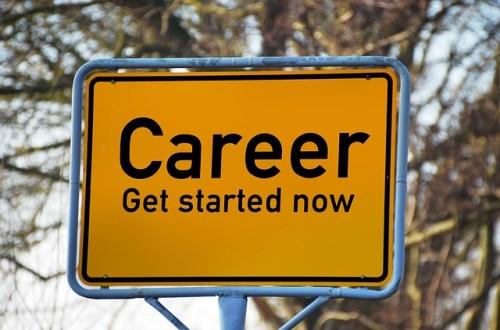 Career start sign