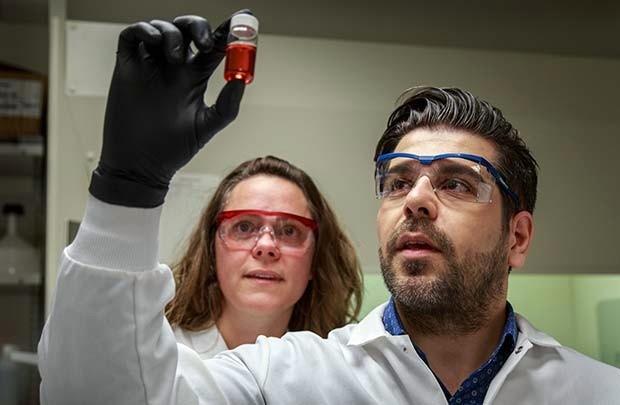 Reza Shabazi and Jennifer Adair