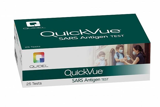 QuickVue test package