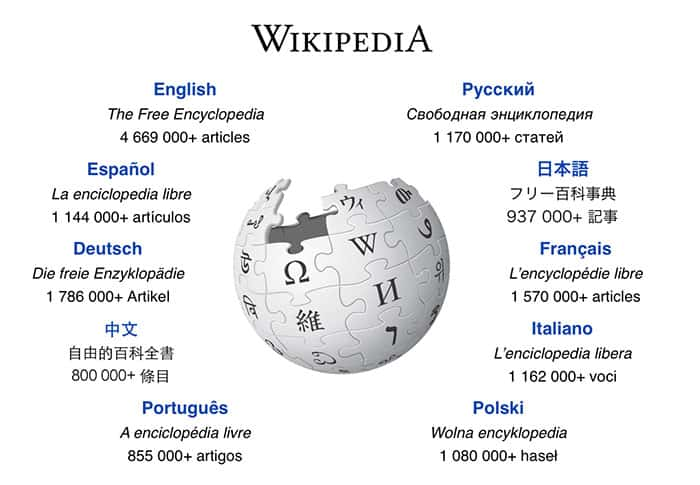 Wikipedia's website