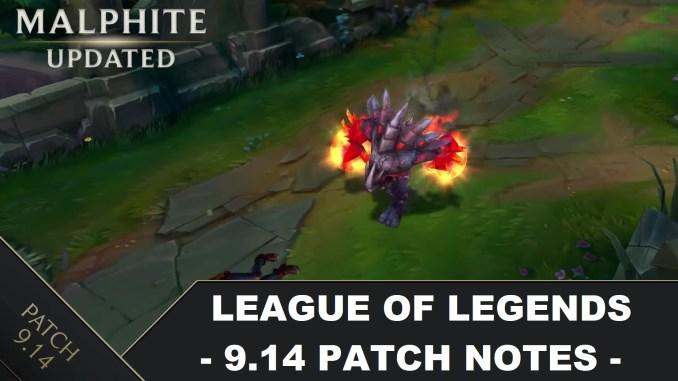 League of Legends 9 14: Official Patch Notes - Balance