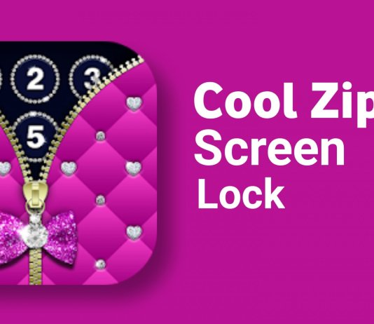 Diamond Zipper Lock Screen app.
