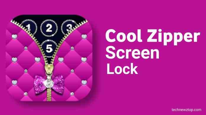Diamond Zipper Lock Screen app.