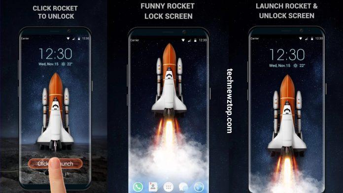 3D Rocket Lock Screen Android App