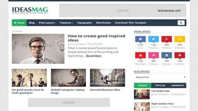 Ideas Mag Blogger Template.