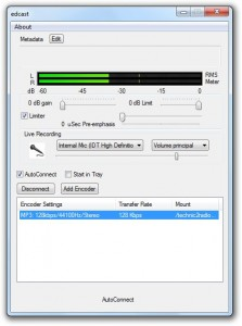 Edcast software streaming radio