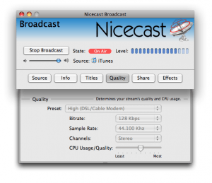 Nicecast logiciel mac streaming broadcast