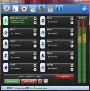 Streamdiffusion logiciel de streaming radio