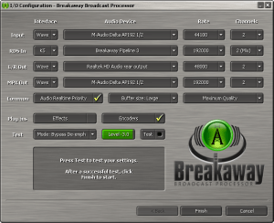 Breakaway Broadcast - Configuration