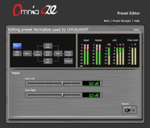 Omnia AX/E encodeur AGC