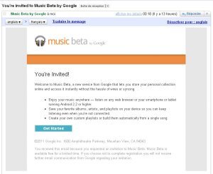 invitation google music beta