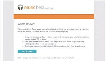invitation google music beta