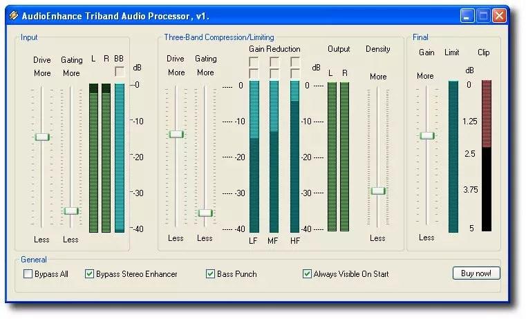 Audio Enhance Triband
