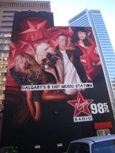 La peinture murale de Virgin Radio Calgary