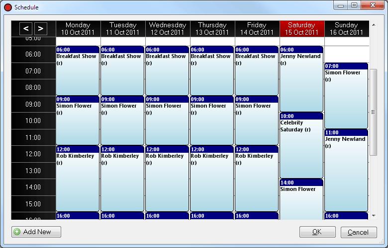 Playit recorder schedule