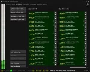 SpyCorder Schedule
